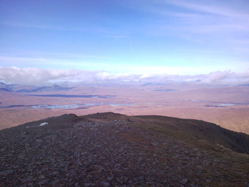 Rannoch Moor and the greay corries from Beinn aChreachain