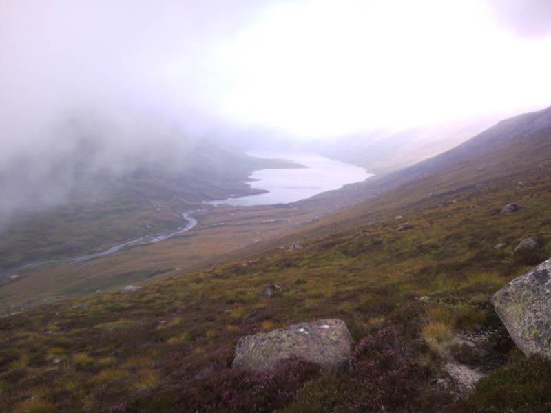 8 Loch avon below the mist