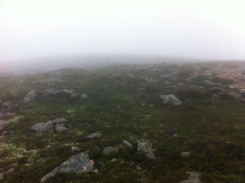 Last few metres of ascent